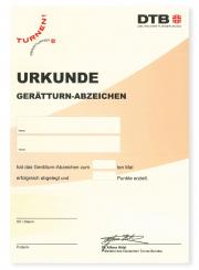 Gerätturn-Abzeichen Urkunde