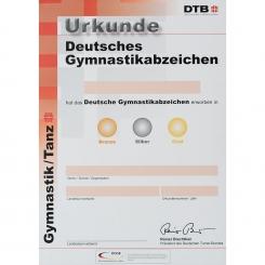 Gymnastikabzeichen DGA Urkunden ab 2008