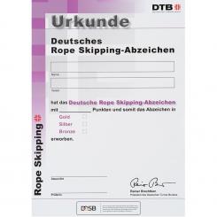 Rope Skipping-Abzeichen Urkunde