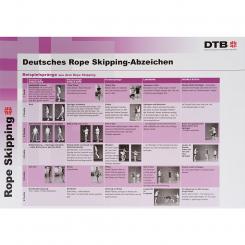 Rope Skipping-Abzeichen Plakat