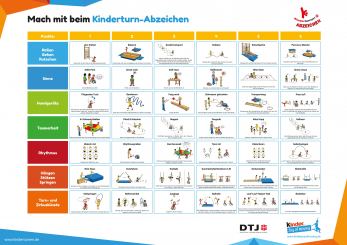 Kinderturn-Abzeichen Aufgabenplakat