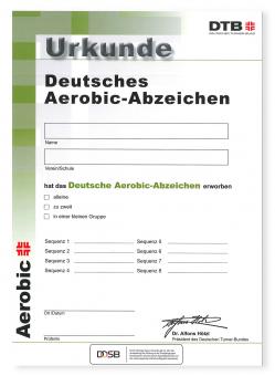Aerobic-Abzeichen Urkunde