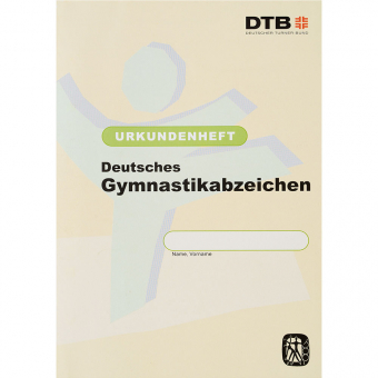 Gymnastikabzeichen DGA Urkundenheft ab 2008