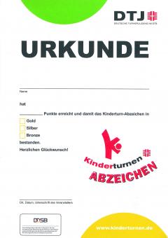 20 x Kinderturn-Abzeichen Urkunden