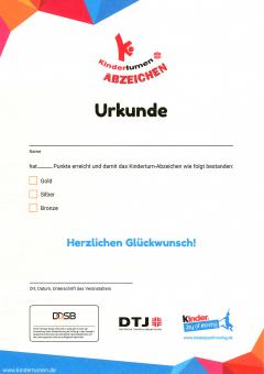 10 x Kinderturn-Abzeichen Urkunden