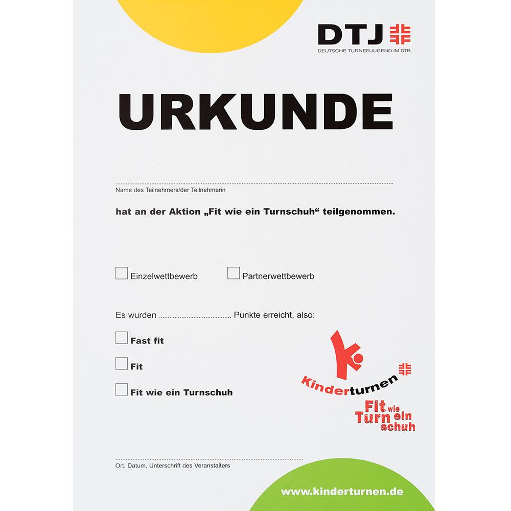 10 x fit wie ein turnschuh urkunden neuauflage 2009 im deutschen turner bund online shop kaufen. Black Bedroom Furniture Sets. Home Design Ideas
